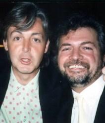 Paul McCartney with Mersey Beat founder Bill Harry
