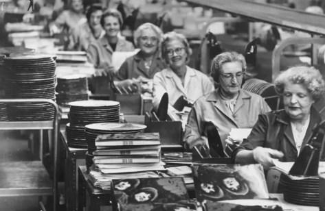 Rubber Soul production line, 1965