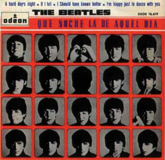 Que Noche La De Aquel Dia Vol 2 (A Hard Day's Night) EP artwork - Spain