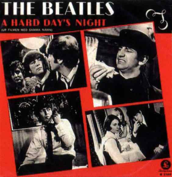 A Hard Day's Night single artwork - Sweden