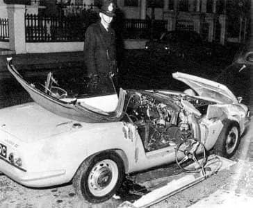 Tara Browne's car crash, 18 December 1966