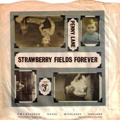 Penny Lane/Strawberry Fields Forever single artwork - United Kingdom