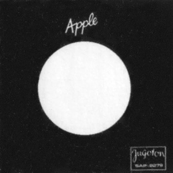 Apple single sleeve - Yugoslavia