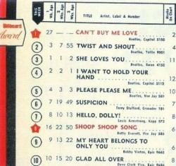 Beatles 5 singles on Billboard Top 100