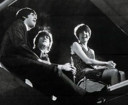 Cilla Black with Beatles Paul McCartney and John Lennon