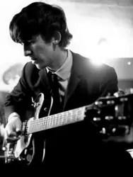 George Harrison with Gretsch Guitar