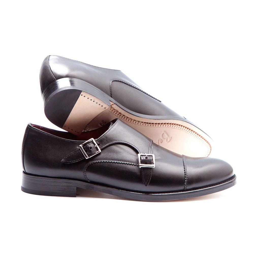 female black monkstrap by beatnik shoes