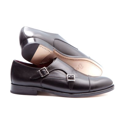 female black monkstrap by beatnik shoes