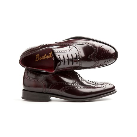 Oxford rojo masculino por Beatnik Shoes
