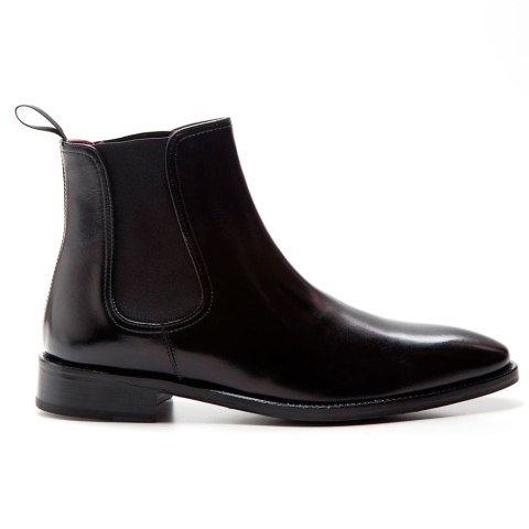 Black leather male Chelsea boots by Beatnik