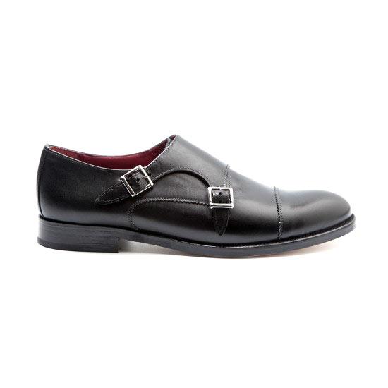 black monkstrap by beatnik shoes