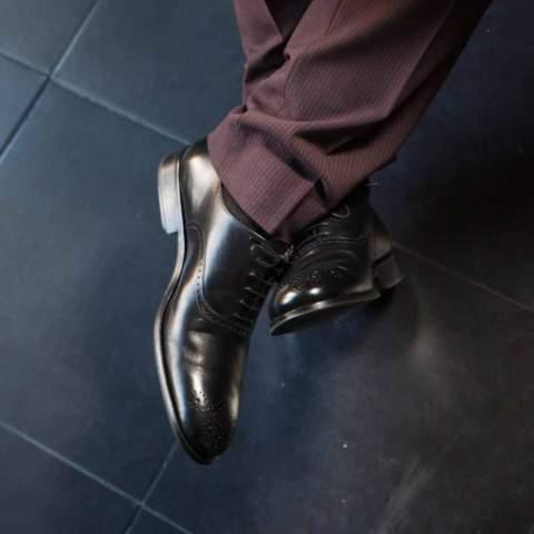 Zapato Oxford negro de ceremonia Legate  para hombre Kaufman hecho a mano por Beatnik Shoes