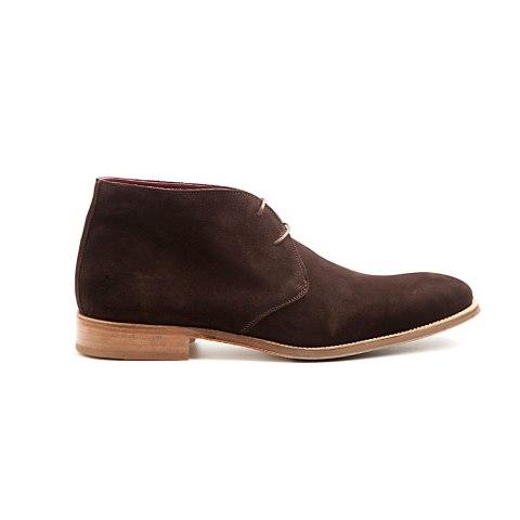 Bota del desierto en ante marrón Kenneth para hombre hecha a mano en España por Beatnik Shoes