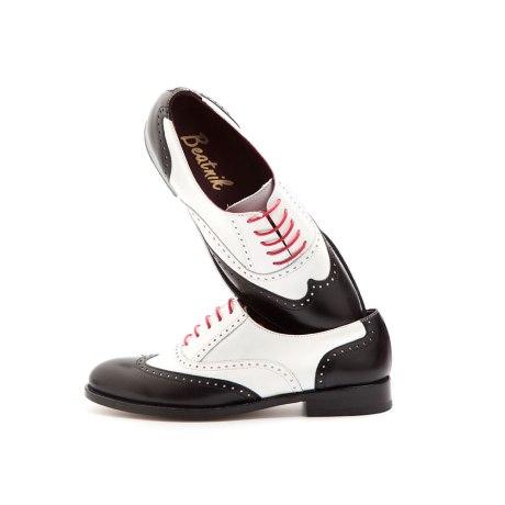 Lena Oxfords woman Black & white by Beatnik Shoes