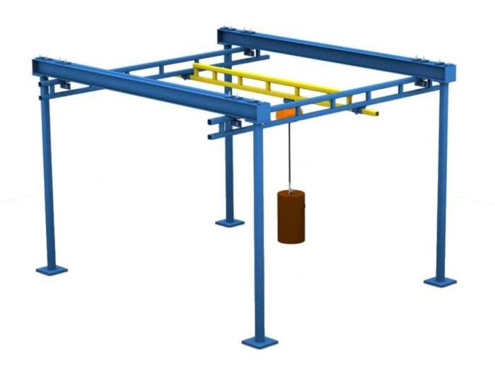 Free Standing Workstation Bridge Crane