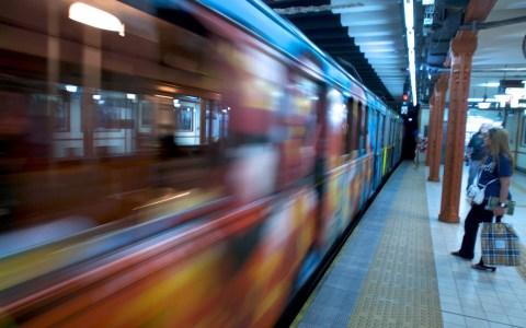 A line subway train