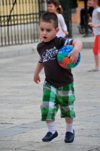 © Beatrice Otto Corfu boy with ball