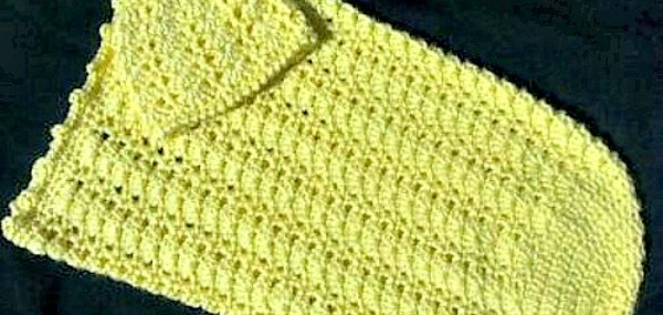 Sunshine And Shells Baby Cocoon Hat Set Free Pattern