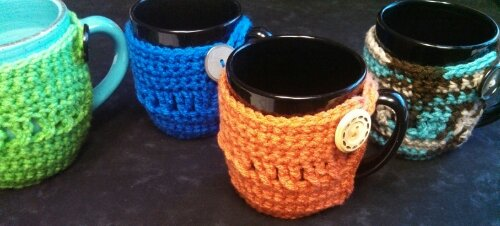 Twisted Stitches Coffee Cozy…