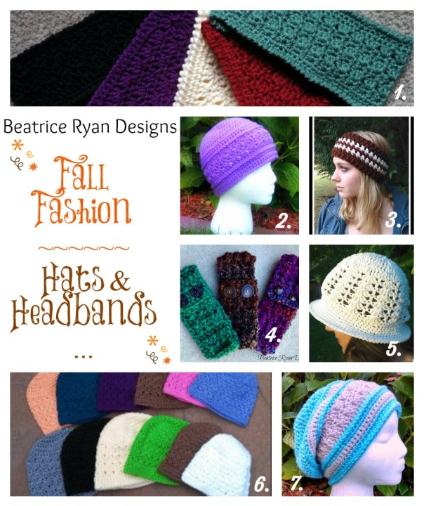 Fall hats and headbands