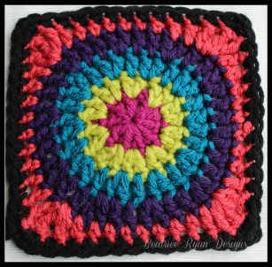 Granny's Circle in Square Orange