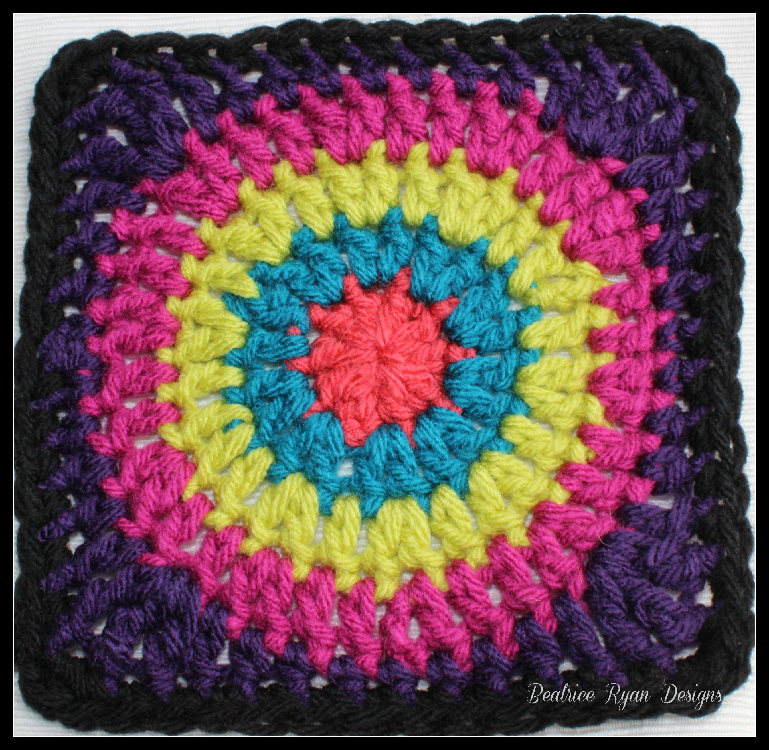 Grannys Circle In Square Free Crochet Pattern