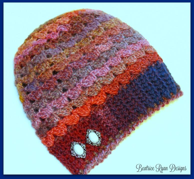 Simple Shells Slouchy Beanie Free Crochet Pattern