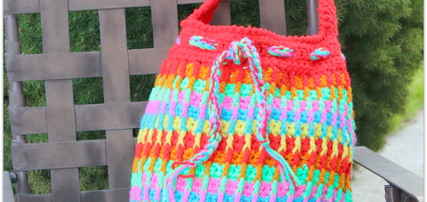 Rainbow Dash Tote Bag…. Free Crochet Pattern!!