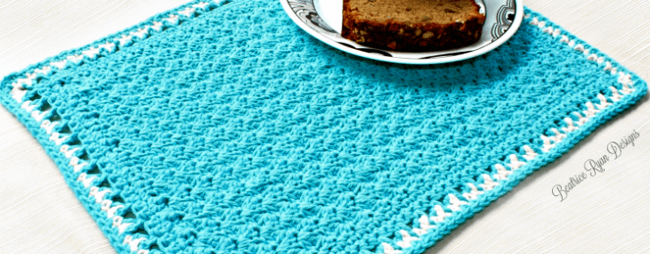 Tea Time Placemat Free Crochet Pattern