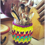 Rainbow Ridges Jar Cozy… Free Crochet Pattern!