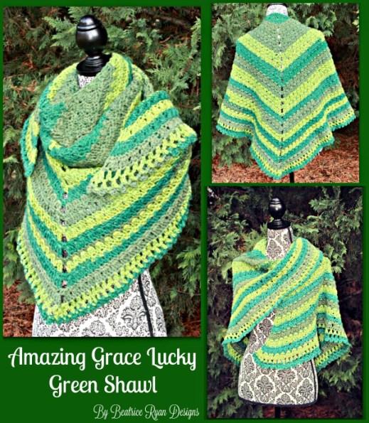 Amazing Grace Lucky Green Shawl - Free Crochet Pattern