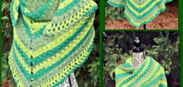 Amazing Grace Lucky Green Shawl… Free Crochet Pattern!
