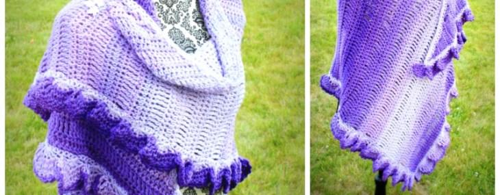 Fades of Purple Shawl… Free Crochet Pattern!!