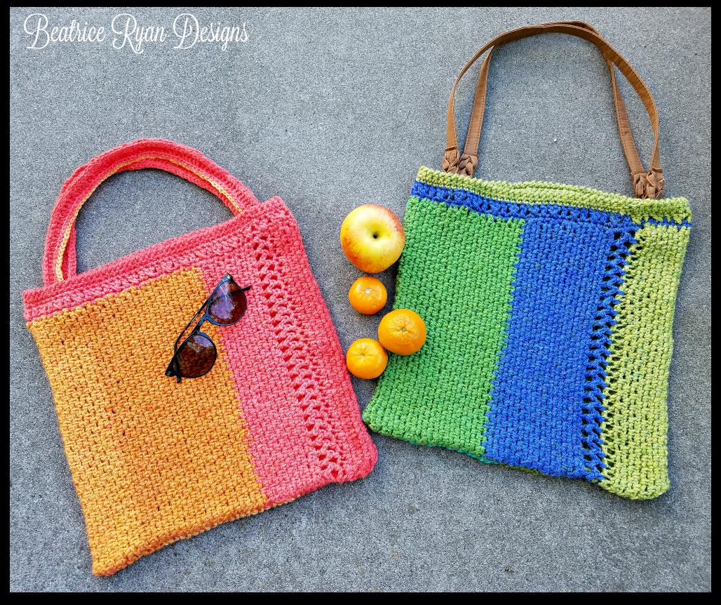 Summer Stripe Tote Bag Free Crochet Pattern