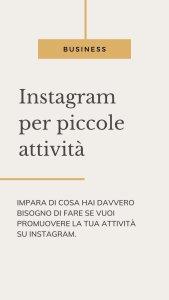 instagram piccole attivita