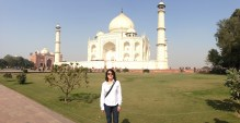 Bea in Taj Mahal