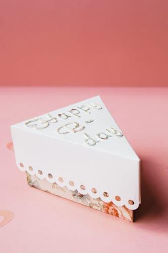 Cake slice made of paper