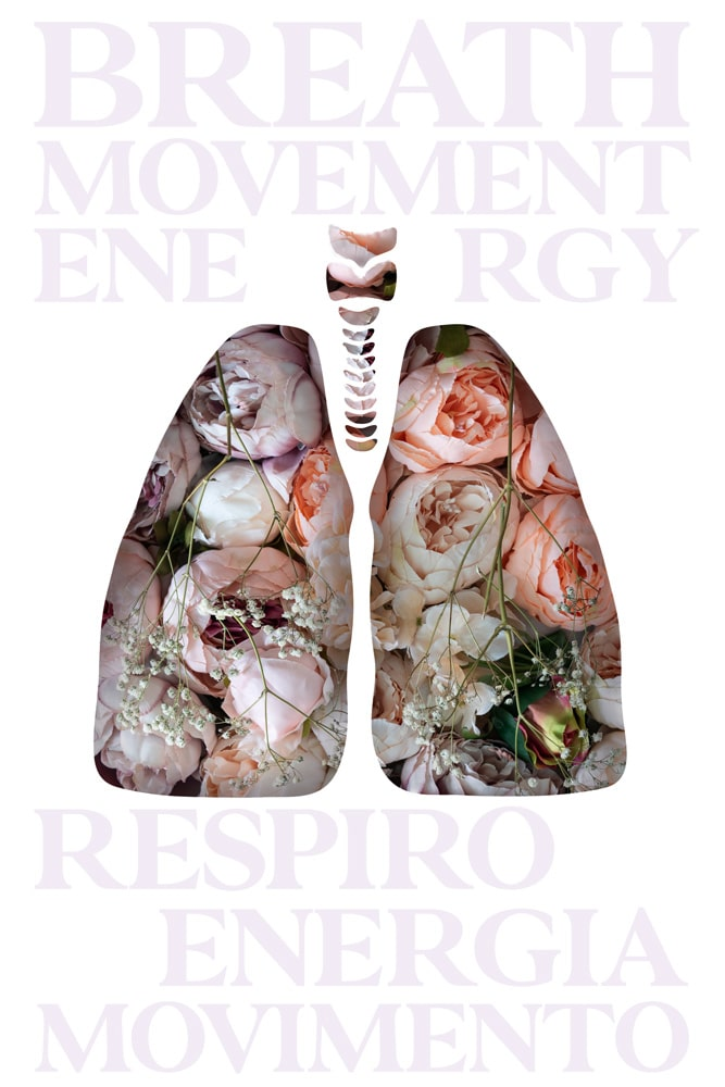 Lungs made of flowers