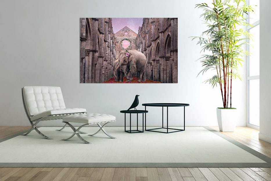 Fine art print in a room