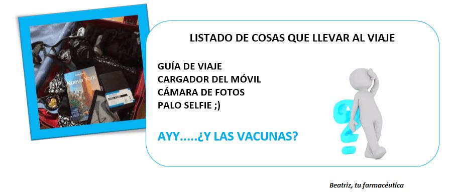 ¿Qué vacuna necesito para viajar a..?