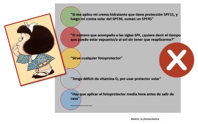 Falsos mitos sobre fotoprotección
