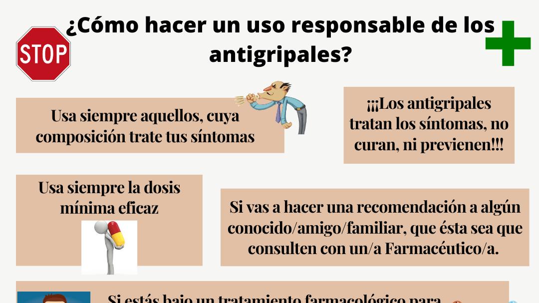 ¿Cómo hacer un uso responsable de los antigripales?