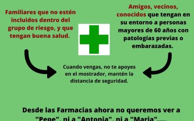 Coronavirus Covid-19, ¿quién debe acudir a la Farmacia?