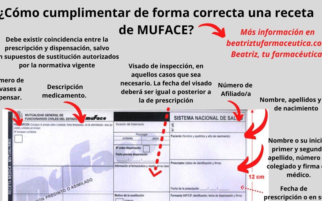 ¿Cómo cumplimentar de forma correcta una receta de Muface?