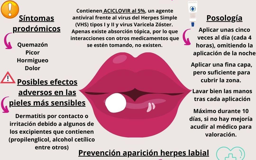 Herpes labial, ¿cómo aplicar el aciclovir tópico?