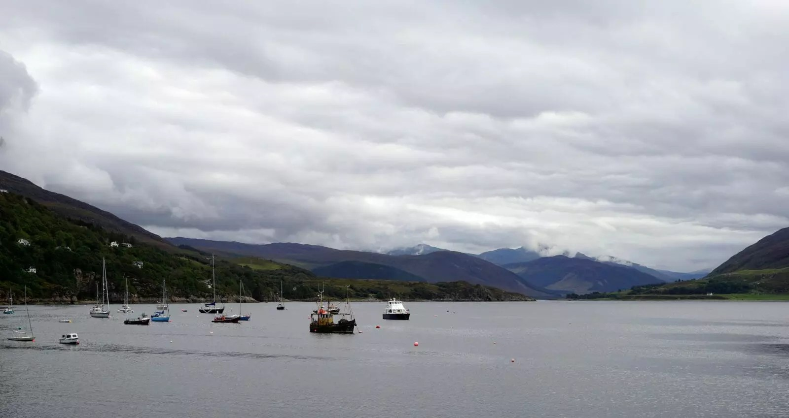 A view of Loch Broom, seen from Ullapool harbour