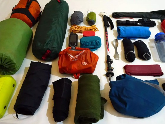 camping and hiking equipment