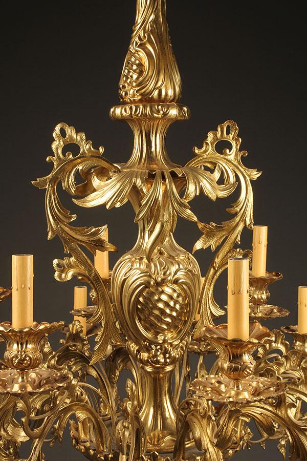 A2084c Chandelier Antique Brass