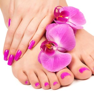 Express Gel Manicure & Gel Pedicure with 10 Nail Extensions