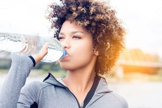 Drink lots of water for an even skin tone